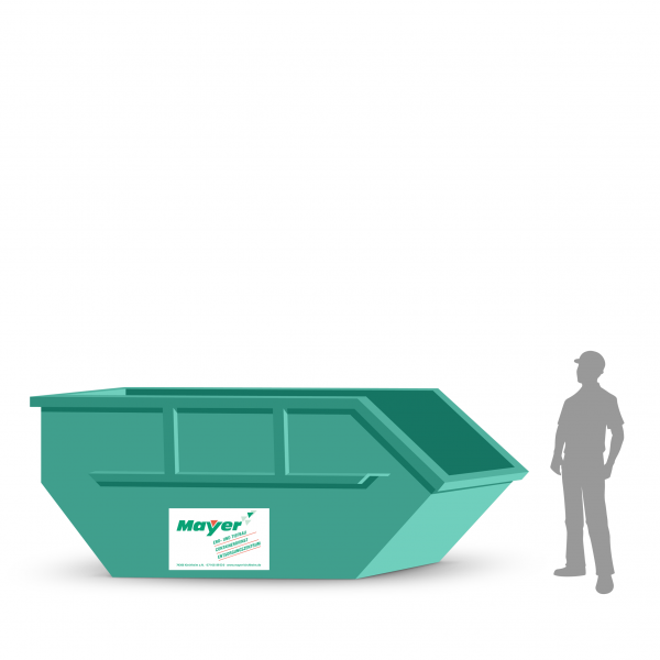 7 cbm Absetzcontainer für Sperrmüll