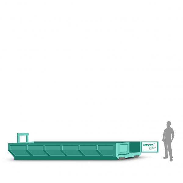 10 cbm Abrollcontainer für Gartenabfall