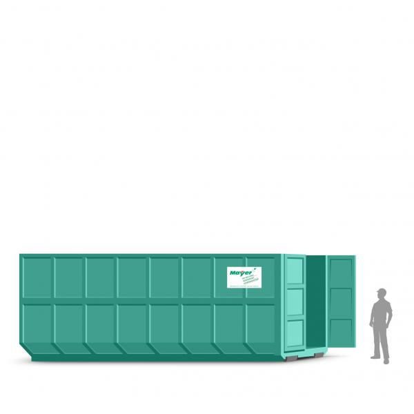 40 cbm Abrollcontainer für Baumischabfall