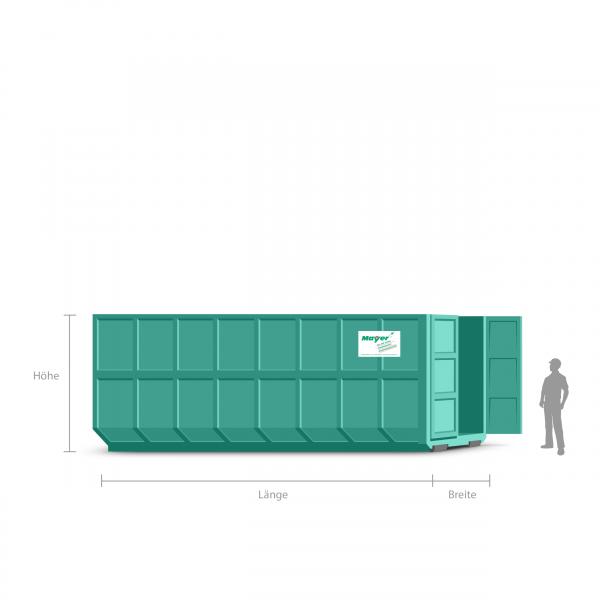 40 cbm Abrollcontainer für Sperrmüll