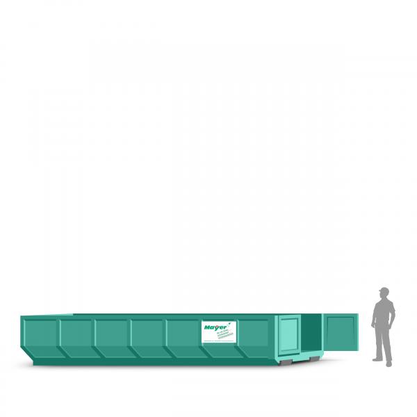 20 cbm Abrollcontainer für Baumischabfall
