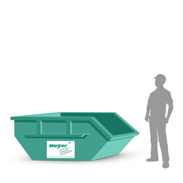 3 cbm Absetzcontainer für Bauschutt