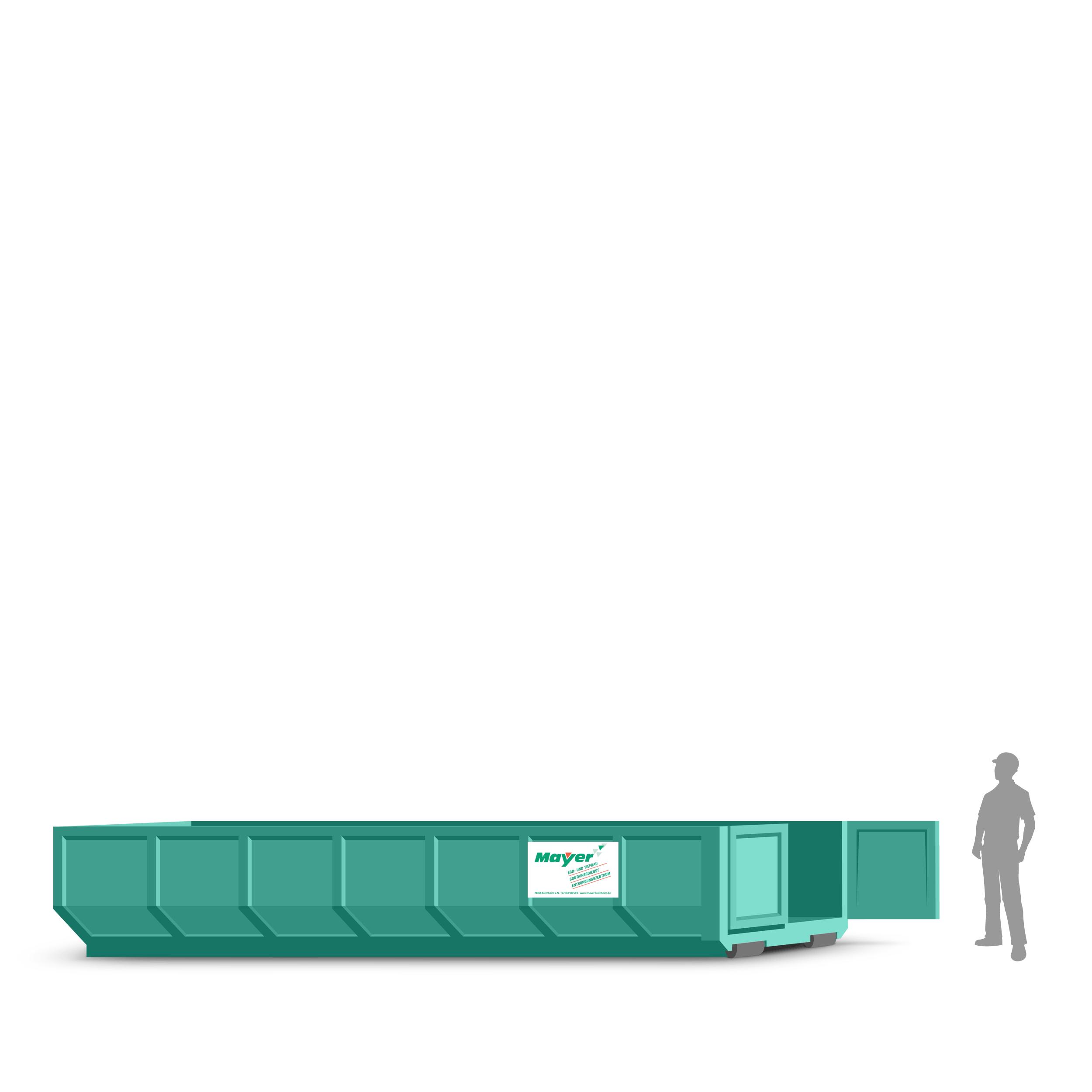 20 cbm abrollcontainer f r gartenabfall online bestellen mayer kirchheim. Black Bedroom Furniture Sets. Home Design Ideas